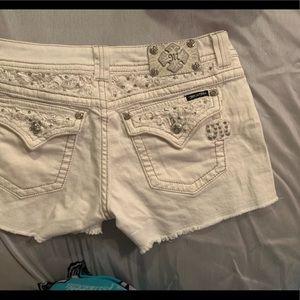 Miss Me Shorts White Size 31